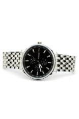 Đồng hồ nữ dây thép không gỉ Sinobi 9268 (Mặt Đen)