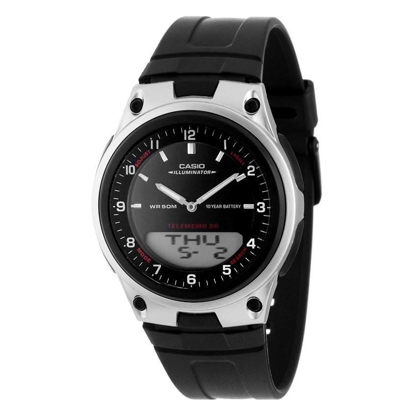 Đồng hồ thể thao dây nhựa Casio AW-80-1AVDF (Đen)