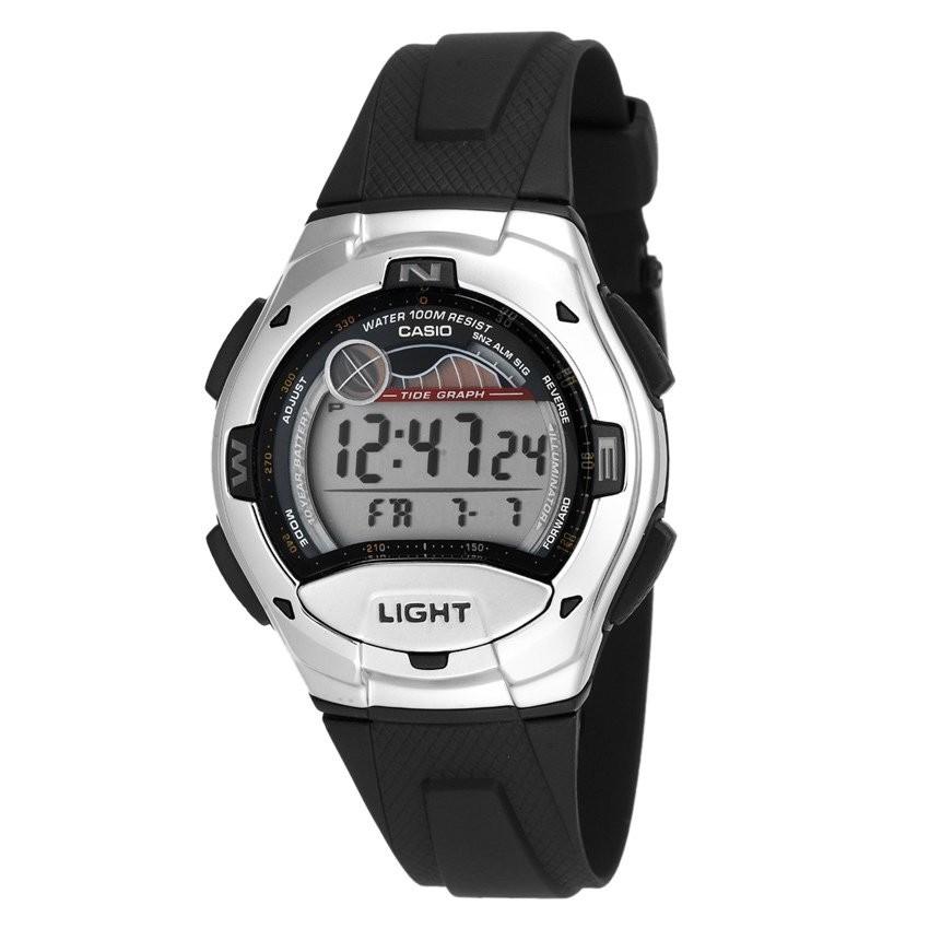 Đồng hồ thể thao nam dây nhựa Casio W-753-1AVDF (Đen)