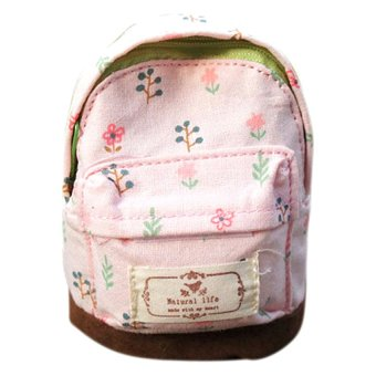 Fancyqube Mini Floral Print Backpack (Pink)