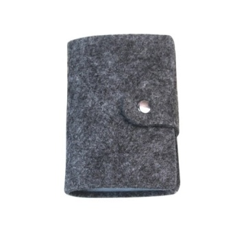 ... Gi u i Fang Fang Soft Felt Credit ID Business Card Holder Dark Grey intl mua ngay