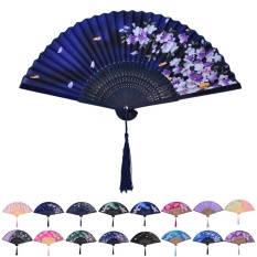 Thời trang Trung Quốc Con Công Lụa Gấp Cầm tay Quạt Đuôi Quạt Cưới Trang Trí Tiệc ZS02-quốc tế