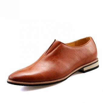 Fashion Men Slip-ons Leather Shoes (BROWN) - intl