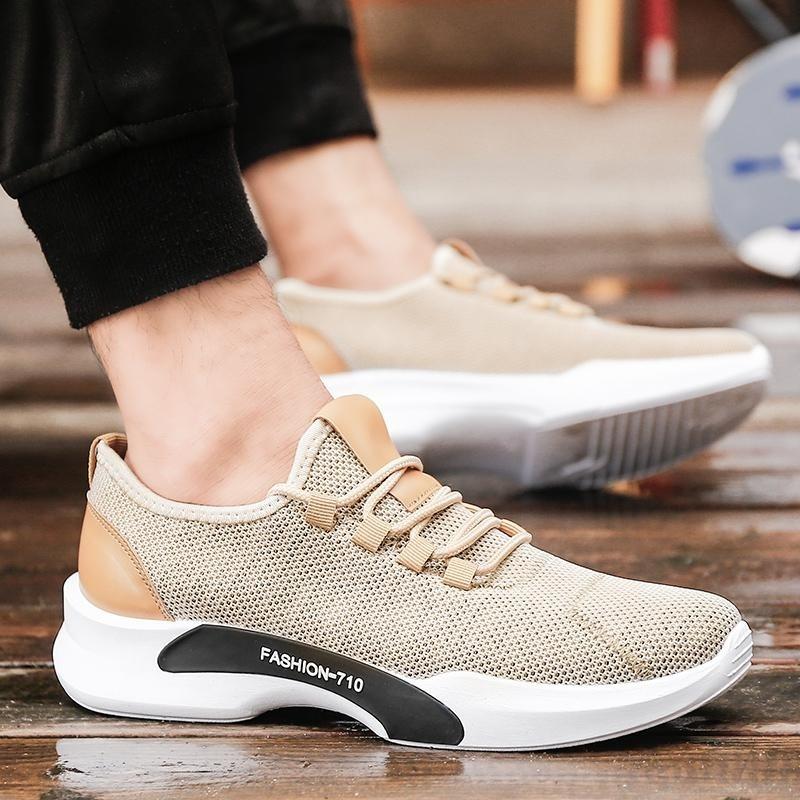 Fashion Men's Sneaker Comfortable Sport Shoes (Beige) - intl