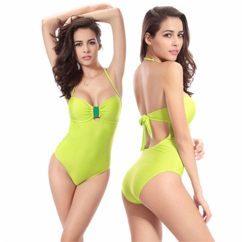 Nơi bán Fashion One-piece Swimsuits Animal Print (Green-43) - intl