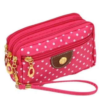 Fashion Women Canvas bag Clutch Bag Messenger Wave Zipper Bag -intl