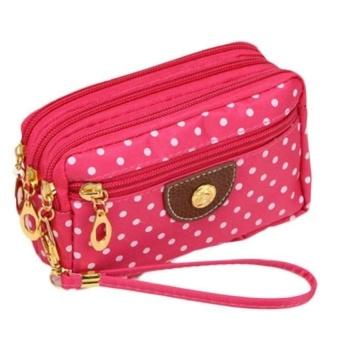 Fashion Women Canvas bag Clutch Bag Messenger Wave Zipper Bag -Int