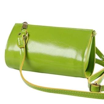 Fashion Women Leather Handbag Cross Body Shoulder Messenger Bucketbag - intl