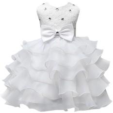 Hoa Bé Gái Váy Đầm cho Năm Mới Quần Áo Đảng Không Tay Nơ Lớn Váy Cưới Công Chúa-quốc tế