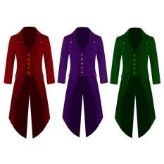 Formal Vintage Men's Coat Fashion Steampunk Retro Tailcoat Jacket Gothic Dinner Dance Party Coat Men's Uniform Size:S M L XL XXL 3XL 4XL.