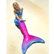 Ladies Girls Cute Mermaid Tail Beach Swimwear – Rose Blue
