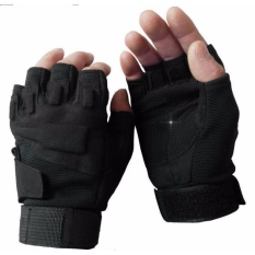 Găng tay BLACK HAWK hở ngón