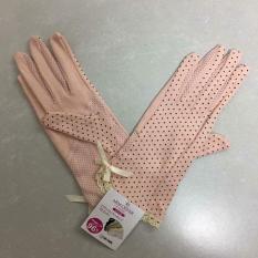 Găng tay chống nắng, co giãn tốt, thấm mồ hôi Cao cấp Nhật Bản (Mầu Hồng)