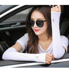 Găng Tay Chống Nắng Xỏ Ngón Let Slim Thun Lạnh Thoáng Mát ( Màu trắng) – BV