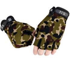 Găng tay hở ngón rằn ri - DG03LA (Xanh gằn ri)