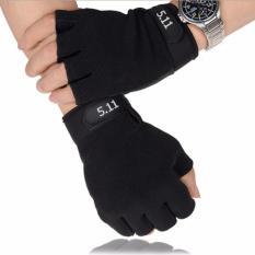 Găng Tay Nam Đa Năng, găng tay phượt, tập gym, thể thao chất liệu vải thun co dãn tốt GT01 (Đen) – TTGT89