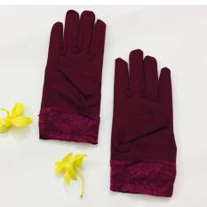 Găng tay nữ chống nắng GTN6502 (đô)