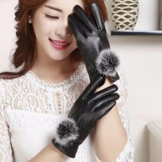 Găng tay nữ da cảm ứng Dozado – hàng đẹp lót nỉ