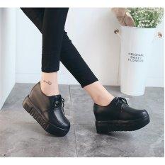 Giày Bánh Mì Nữ Đế Độn Bm041d (Đen)