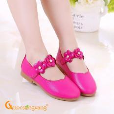 Giày bé gái búp bê giày búp bê quai dán GLG018-hongsen