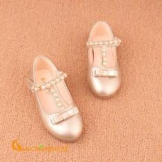 Giày bé gái đẹp dây đeo ngọc trai GLG026