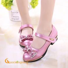 Giày bé gái đẹp đính nơ giày búp bê bé gái đẹp GLG016