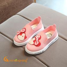 Giày bé gái đẹp giày đế thể thao bé gái màu hồng minnie GLG065