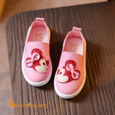 Giày bé gái đẹp giày thể thao bé gái màu hồng minnie GLG030