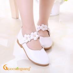 Giày bé gái quai dán giày búp bê bé gái quai hoa GLG018