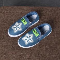 Giày bé gái vải jean RS101 (Xanh)