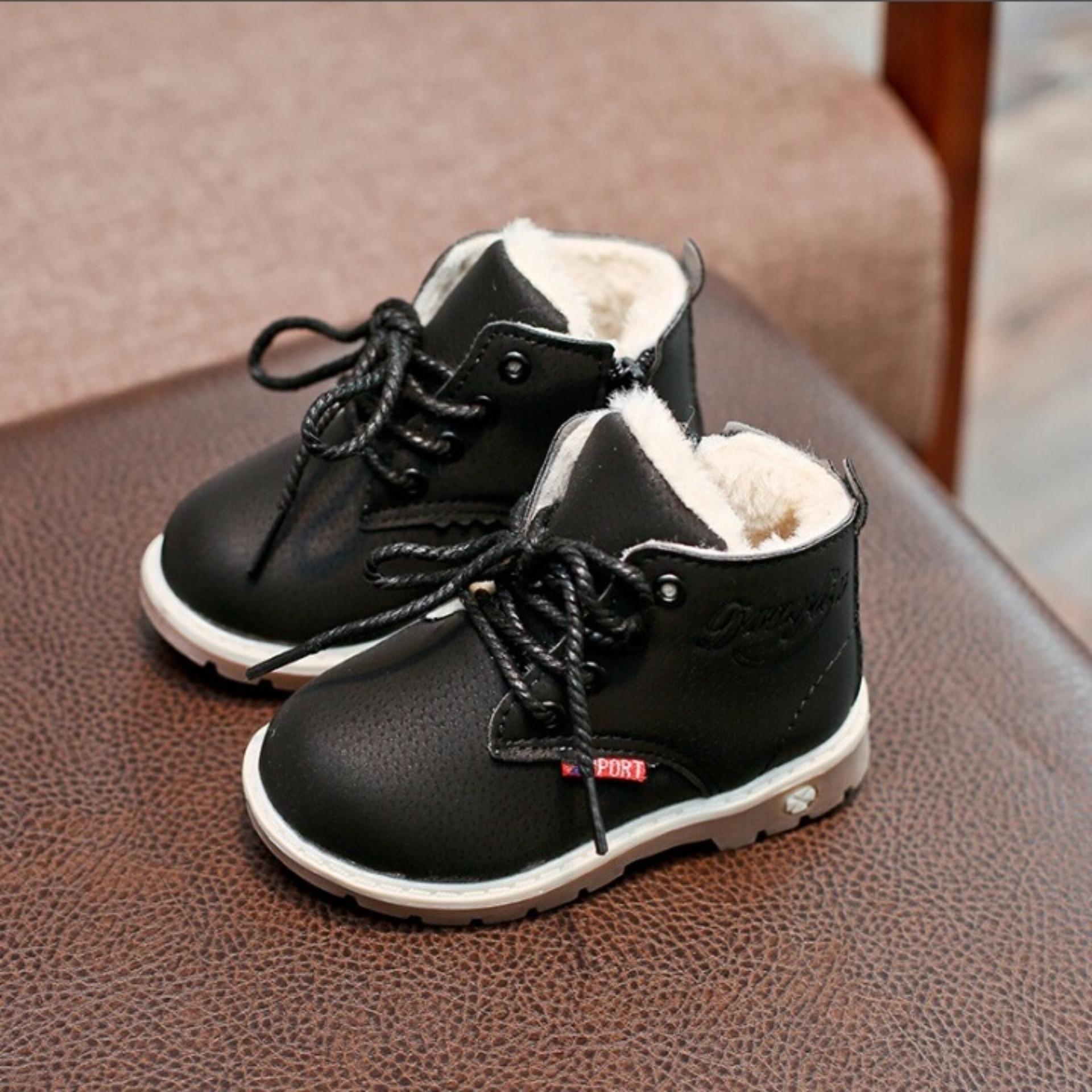 giày boot buộc dây trẻ em