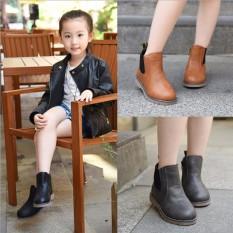 Giày boot cổ thun lót lông trẻ em