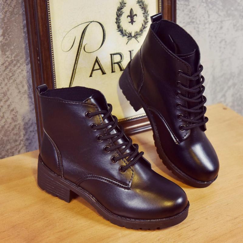 Giày Boot Nữ 5cm Gót Vuông Cổ Thấp Jacob G3282