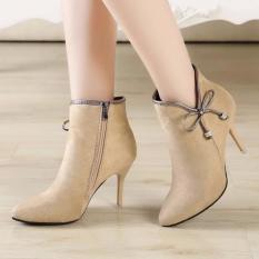 Giày boot nữ cao cấp B079X (Nâu)