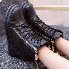 Giay boot nữ cổ cao cá tính B042D