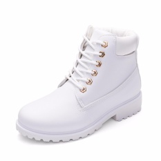 Giày Boot Nữ Lidus HH1823. Bảo hành 12 tháng. (Màu trắng)