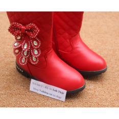 Giày Bốt bé Gái – nơ – Size 26 đến 30 – đỏ