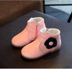 Giày bốt cho bé gái style Hàn Quốc (Hồng)