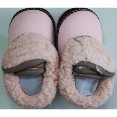 Giày bốt giữ ấm chân cho bé từ 6-12 tháng tuổi (Màu hồng)