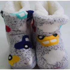 Giày bốt giữ ấm chân cho bé từ 6-12 tháng tuổi (Màu xám)