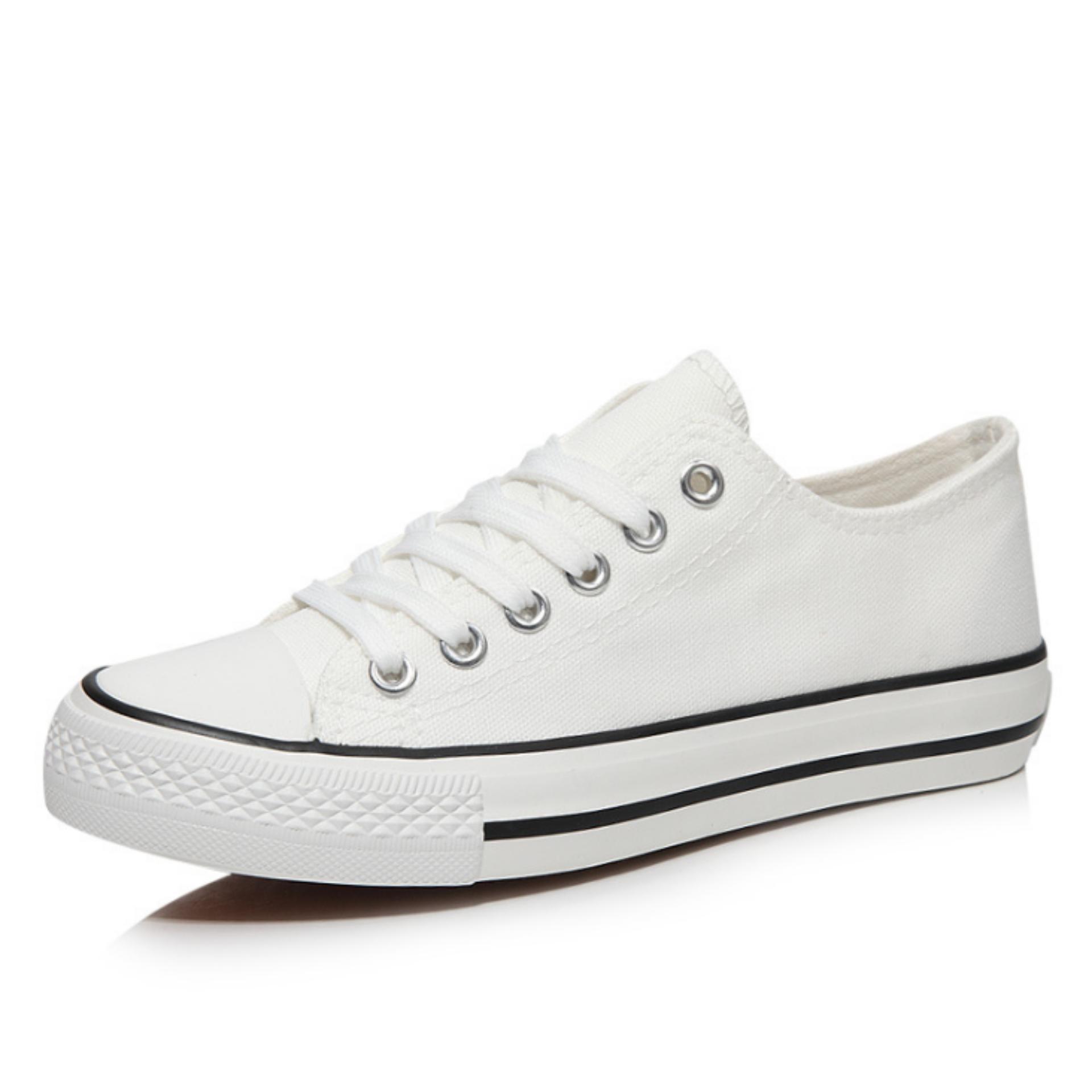 Giày sneaker nữ CV thấp cổ ZAVANS (Trắng)