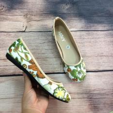 Giày búp bê họa tiết hoa MZBB45
