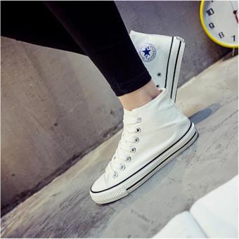 Giày cao cổ vải chất đẹp L&A Fashion (Mẫu nữ - màu trắng)