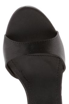 Giày cao gót có quai ngang hậu cách điệu Senta (đen)