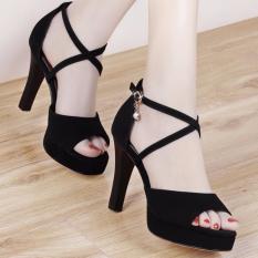 Giày cao gót quai đan chéo nhỏ – Mã số: CG51