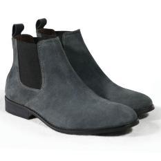 Giày Chelsea boot nam màu xám lông chuột da lộn Tathanium Footwear (Xám)
