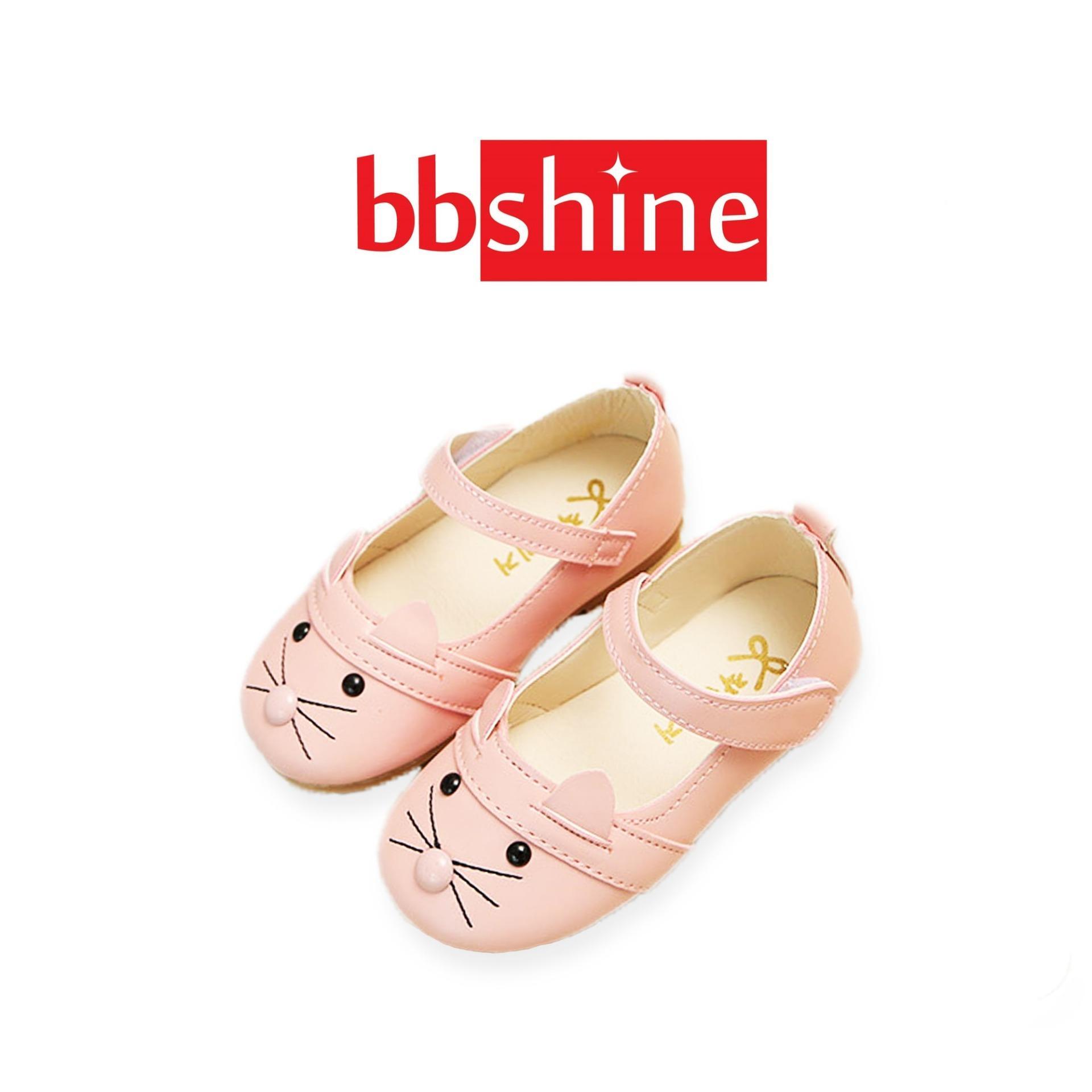 Giày cho bé gái 2 – 4 tuổi nhập khẩu Hàn Quốc họa tiết hình mèo đáng yêu – G13