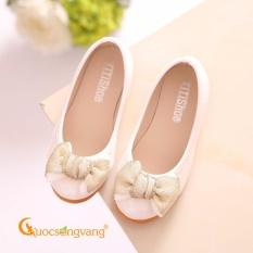 Giày đẹp bé gái giày bé gái đẹp đính nơ GLG004-White