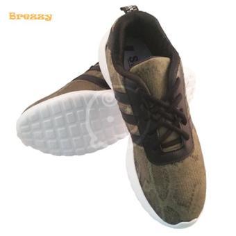 Giày đi học bé trai Brezzy in da rắn (Xanh rêu) + Tặng 2 đôi vớ nam cao cấp (Màu sắc ngẫu nhiên)