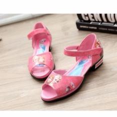Giày Elsa hở mũi mùa hè cho bé gái (M69)